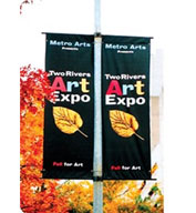 Custom Polyester Avenue Pole Banner