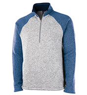 Custom Charles River Mens Quarter Zip Heathered Fleece