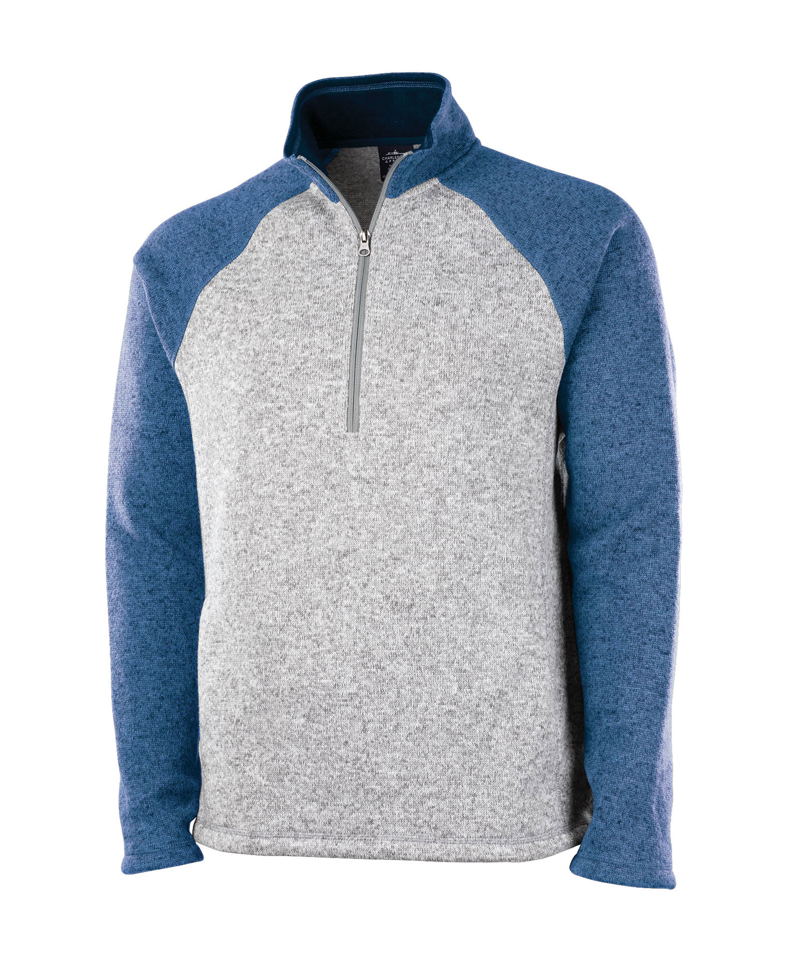 Charles River Mens Quarter Zip Heathered Fleece