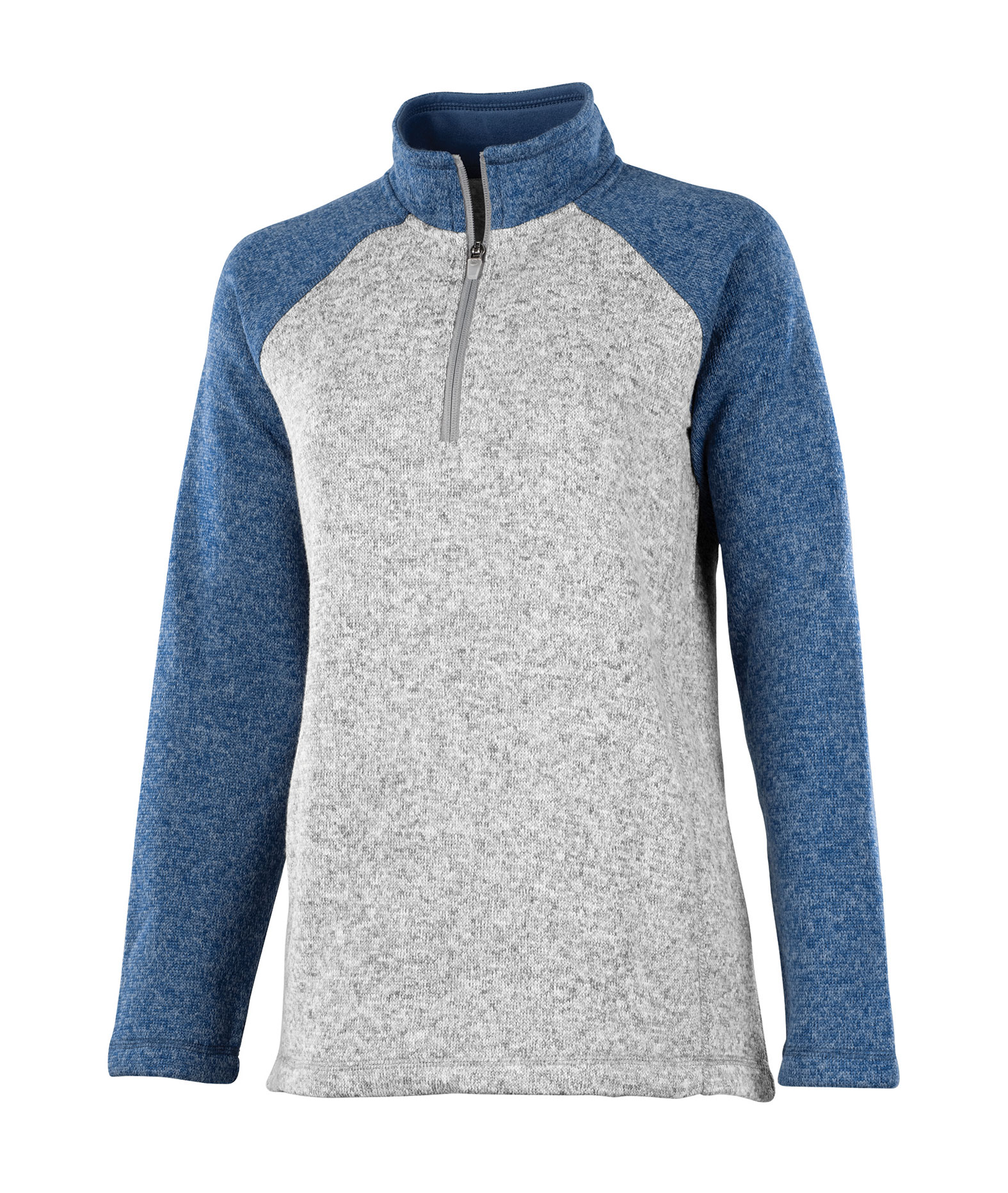 Charles River Womens Quarter Zip Heathered Fleece