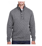 Custom J America Adult Quilted Snap Pullover