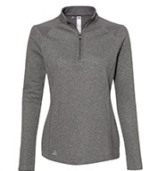 Custom Adidas Womens Heathered Quarter Zip Pullover