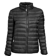 Custom Tumi Womens Packable Recycled Travel Puffer Jacket