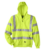 Custom Berne Mens Hi-Vis Class 3 Lined Sweatshirt