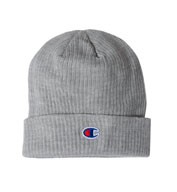 Custom Champion Ribbed Knit Cap