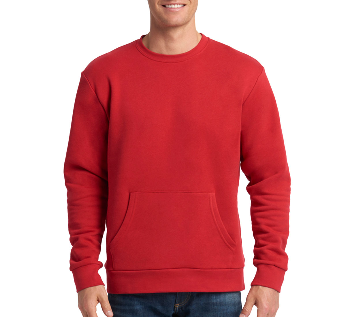 Next Level Unisex Long-Sleeve Crew with Pocket