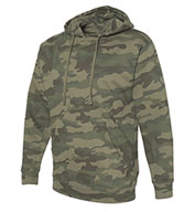 Custom Independent Trading Co. Adult Camo Midweight Hooded Sweatshirt