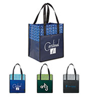 Custom Leeds Big Grocery Laminated Non-Woven Tote