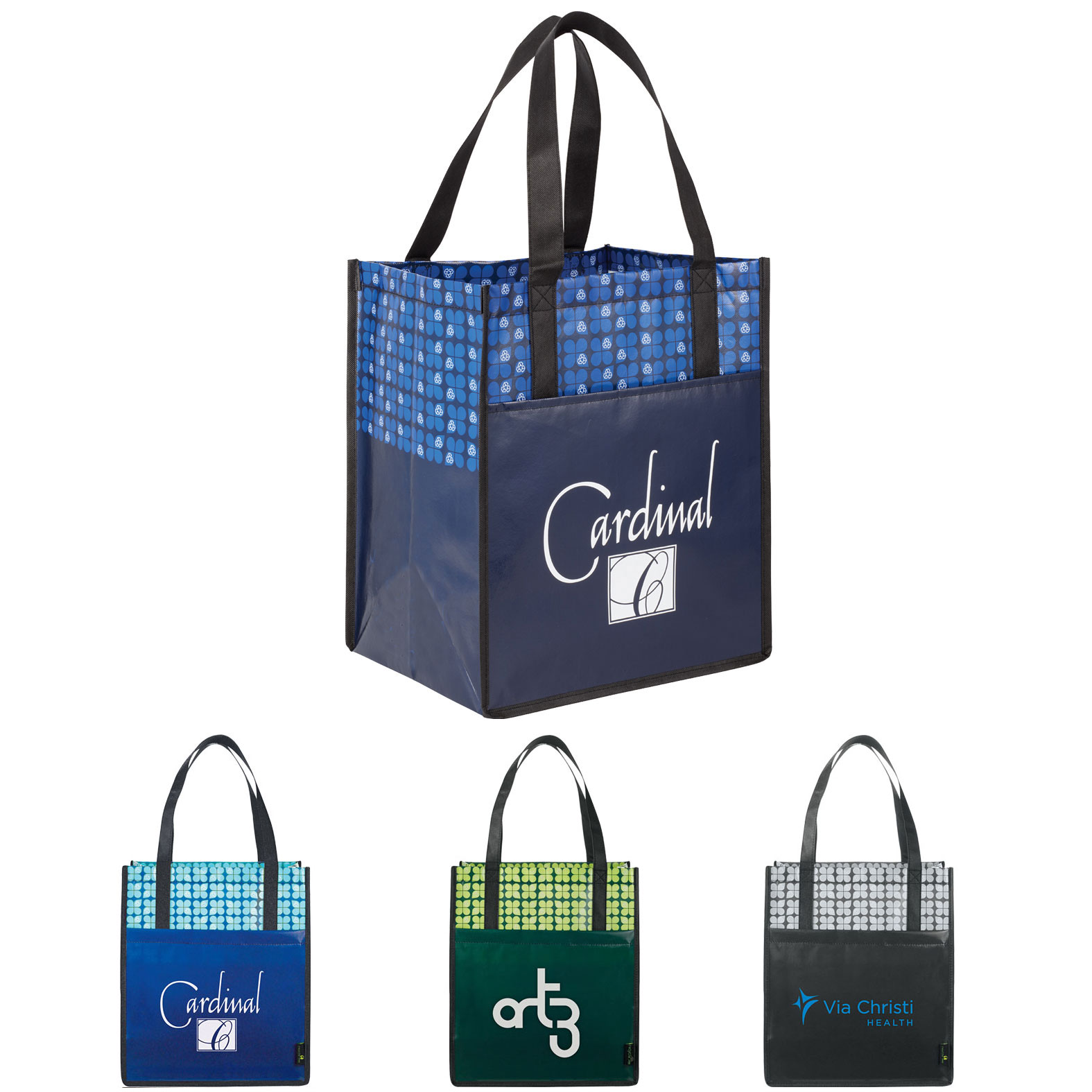 Leeds Big Grocery Laminated Non-Woven Tote