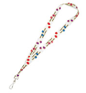 Custom Bullet Full Color 1-inch Lanyard with Hook