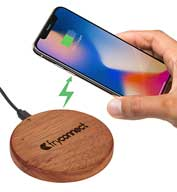 Custom Leeds Bora Wooden Wireless Charging Pad