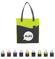 Custom Bullet Rivers Pocket Non-Woven Convention Tote