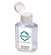 Custom Prime Line Gel Sanitizer In Square 2oz Bottle