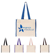 Custom Q-Tees 14L Tote with Contrast Color Handles