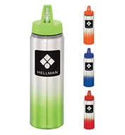 Custom Bullet Gradient 25 oz. Aluminum Sports Bottle