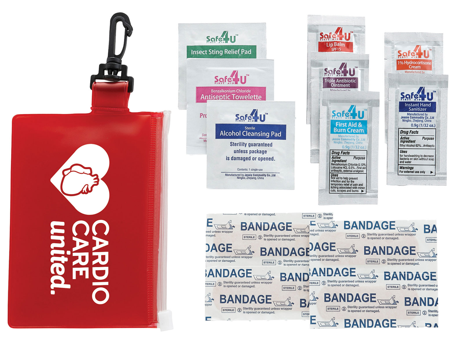 Bullet On The Go 12-Piece First Aid Pack