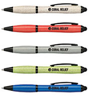 Custom Bullet Nash Wheat Straw Ballpoint Stylus Pen