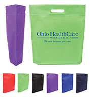 Custom Jetline Die Cut Handle Trade Show Non-Woven Tote