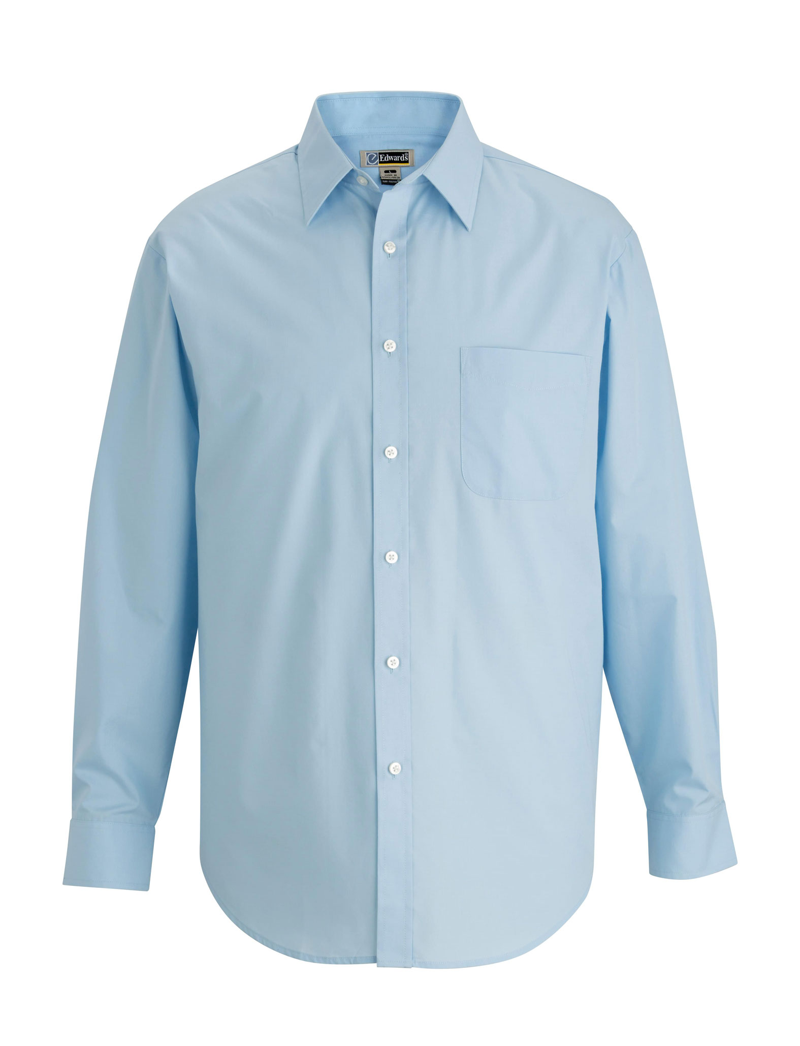 Edwards Mens Long-Sleeve Essential Broadcloth Shirt