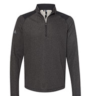 Custom Adidas Mens Heathered Quarter Zip Pullover