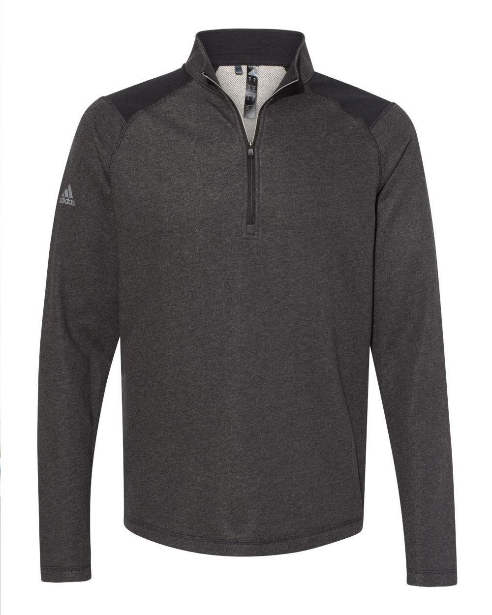 Adidas Mens Heathered Quarter Zip Pullover