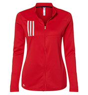 Custom Adidas Womens 3-Stripes Double Knit Full-Zip