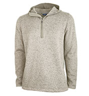 Custom Charles River Mens Heathered Fleece Quarter Zip Hoodie