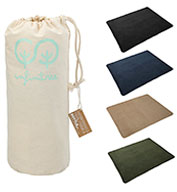 Custom Leeds 100% Recycled PET Fleece Blanket with Canvas Pouch