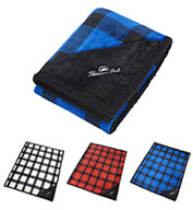 Custom Field & Co.® Buffalo Plaid Sherpa Blanket