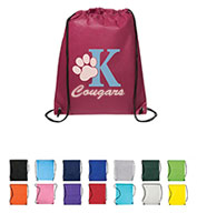 Custom Prime Line® Non-Woven Drawstring Cinch-Up Backpack