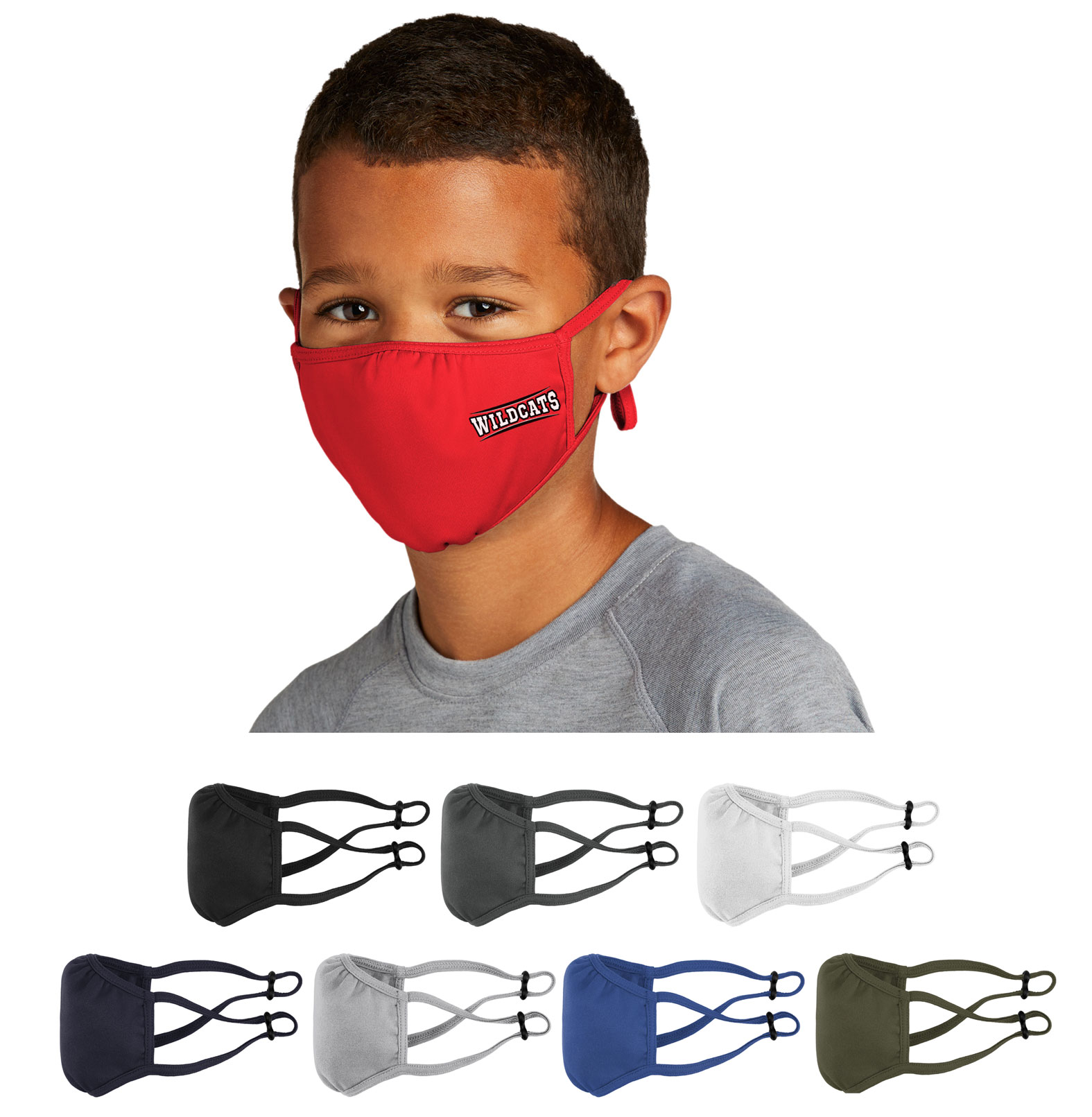 Sport-Tek Youth PosiCharge Competitor Face Mask-5 Pack