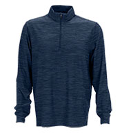 Custom Greg Norman Mens Play Dry® Heather 1/4-Zip Mock Neck