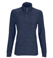 Custom Greg Norman Womens Play Dry® Heather 1/4-Zip Mock Neck