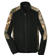 Custom Port Authority® Mens Camouflage Microfleece Full-Zip Jacket