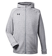Custom Under Armour Mens Hustle Full-Zip Hooded Sweatshirt