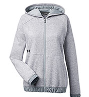 Custom Under Armour Ladies Hustle Full-Zip Hooded Sweatshirt