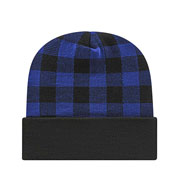 Custom Cap America Plaid Knit Beanie
