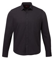 Custom UNTUCKit Mens Black Stone Wrinkle Free Long Sleeve Shirt