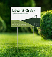 Custom Yard Sign - 12 inch x 18 inch with Stakes