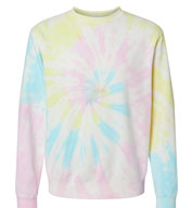 Custom Independent Trading Co. Unisex Midweight Tie-Dyed Sweatshirt
