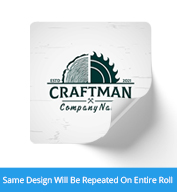 Custom 2 inch Square Gloss Laminated Roll Labels with Rounded Corners