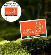 Custom Double Sided Print Yard Sign - 12 inch x 18 inch with Stakes