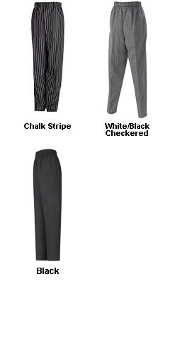 Baggy Chefs Pant with Elastic Waist - All Colors