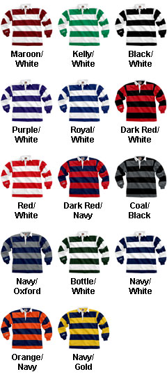 Traditional Long Sleeved 4  Stripe Custom Rugby Shirt - All Colors