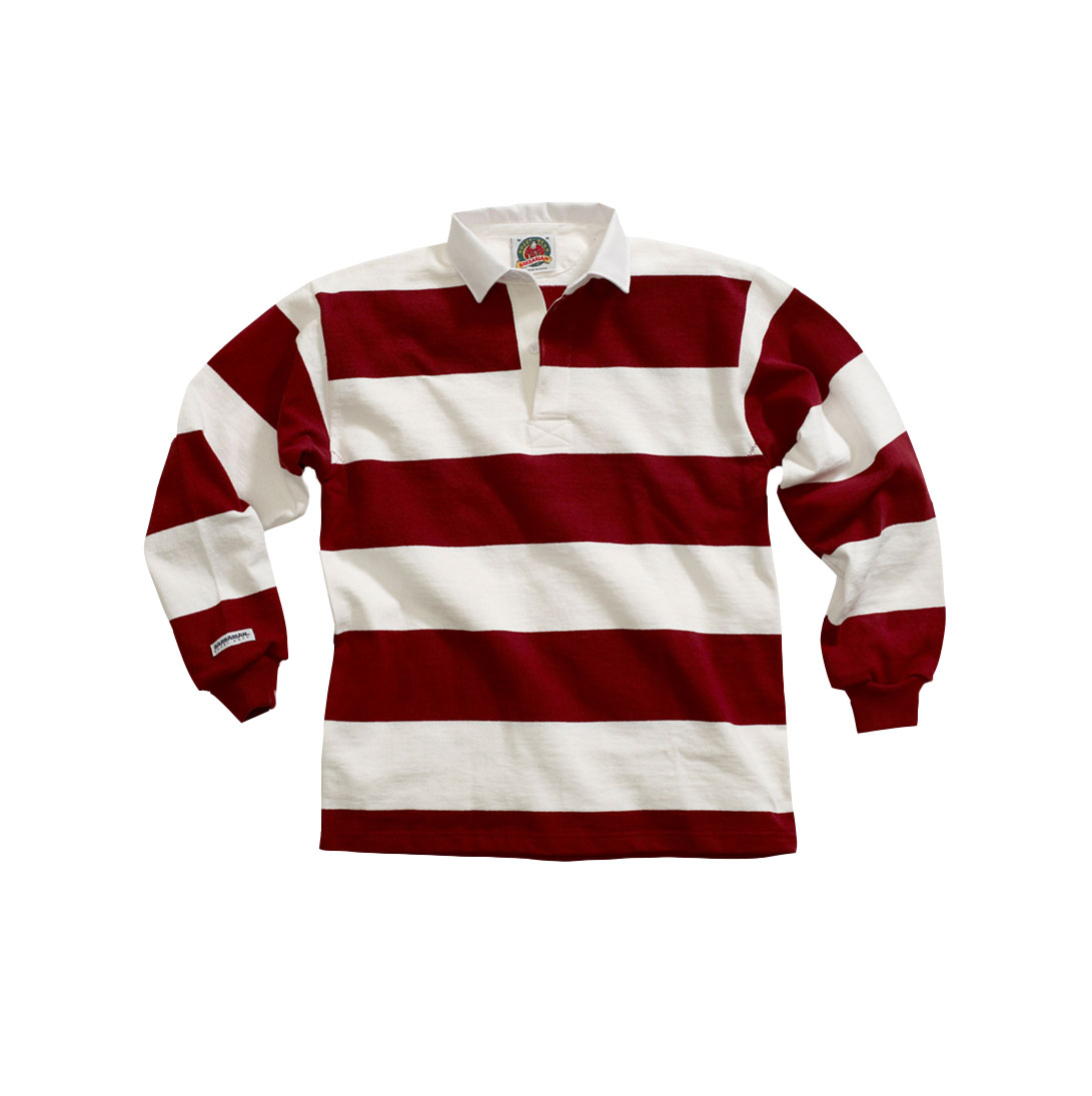 cee3ca4f319 Design Traditional Long Sleeved 4 Stripe Custom Rugby Shirt Mens