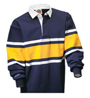 Custom Barbarian® Unisex Collegiate Stripe Rugby Shirt