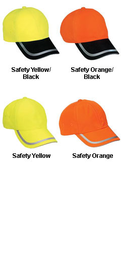 Fluorescent Wicking Safety Cap - All Colors