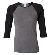 Custom Bella + Canvas Ladies 3/4 Sleeve Raglan Colorblock T-Shirt