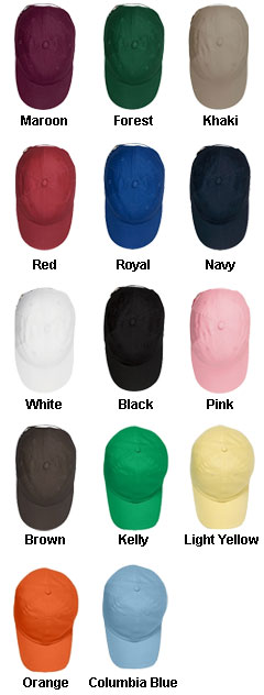 Six Panel Low-Profile Brushed Twill Stitched Cap - All Colors