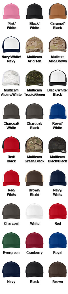 Yupoong Flexfit® Custom Mesh Truckers Cap - All Colors